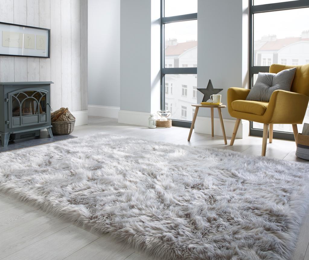 Dywan Sheepskin Faux Grey 80x150 cm