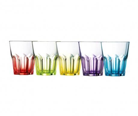 Zestaw 6 szklanek Crazy Colors 300 ml