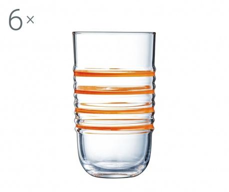 Zestaw 6 szklanek Parade Orange 320 ml