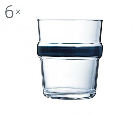 Zestaw 6 szklanek Cadence Blue 270 ml
