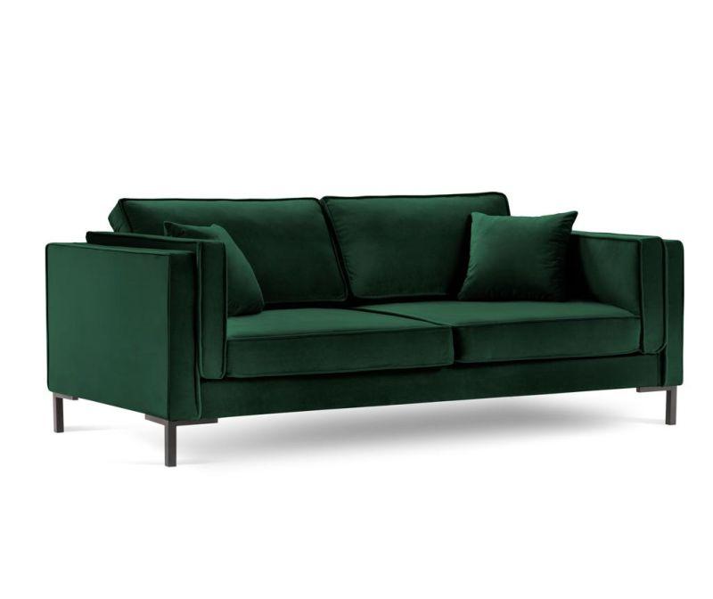 Luis Bottle Green Háromszemélyes kanapé