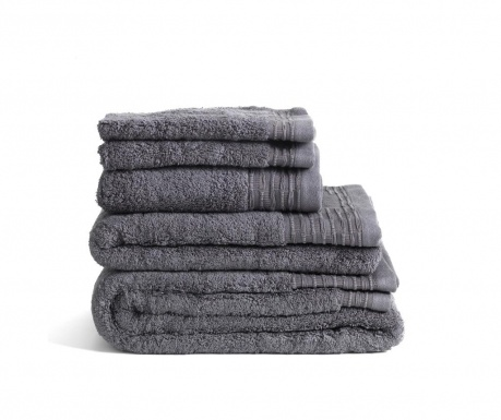 Sada 2 uteráky Lisa Dark Grey 30x50 cm