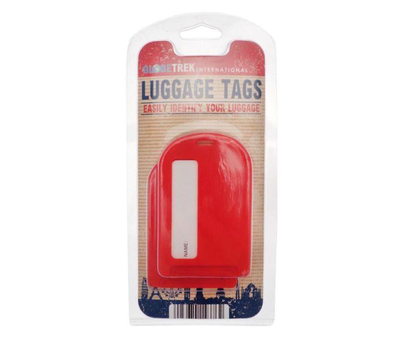 Set 2 oznak za prtljago Identify Red