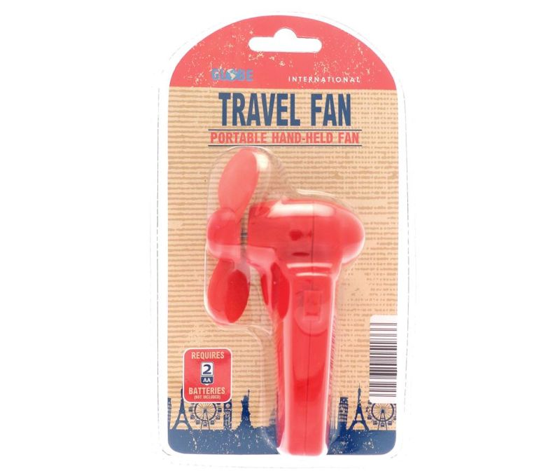 Pahljača Travel Red