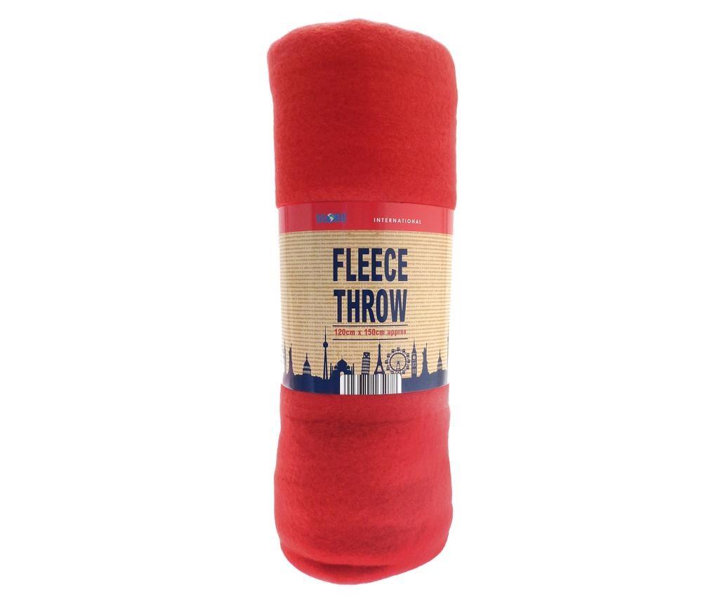 Priročna odeja Travel Red 120x150 cm