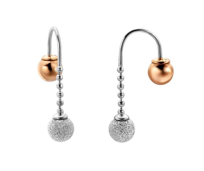 Uhani Esprit Further Silver & Rose Gold Tone