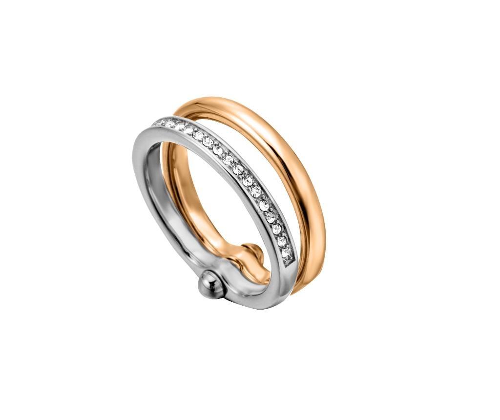 Prsten Esprit Elisabeth Silver & Rose Gold Tone 18 mm