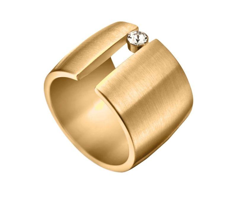 Inel Esprit Onda Gold Tone 17 mm