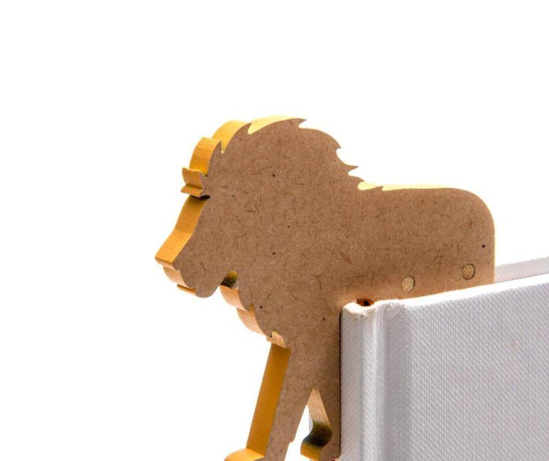 Woodland Animal Bookmark Lion Könyvjelző