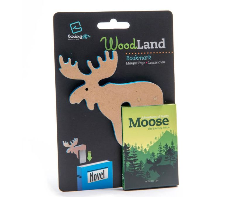 Woodland Animal Bookmark Moose Könyvjelző