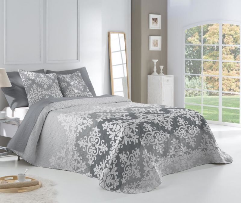 Set cuvertura Double Extra Reversible  Win Gris