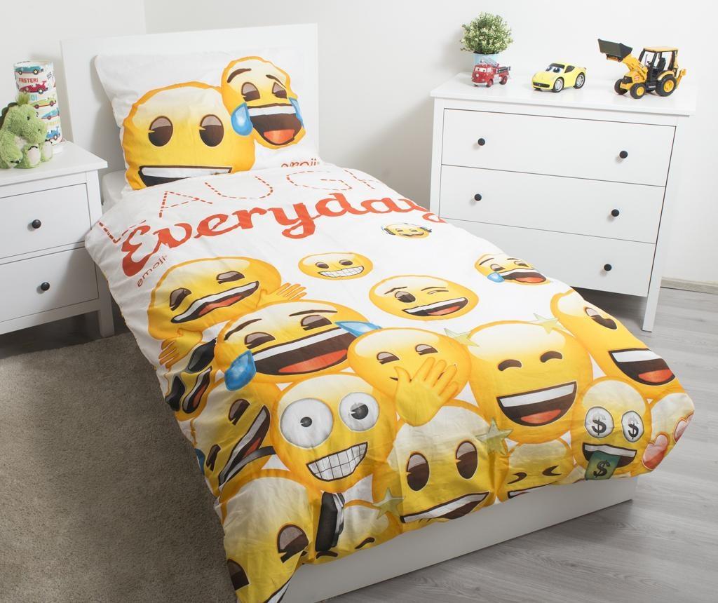 Posteljina Single Emoji Laugh Everyday