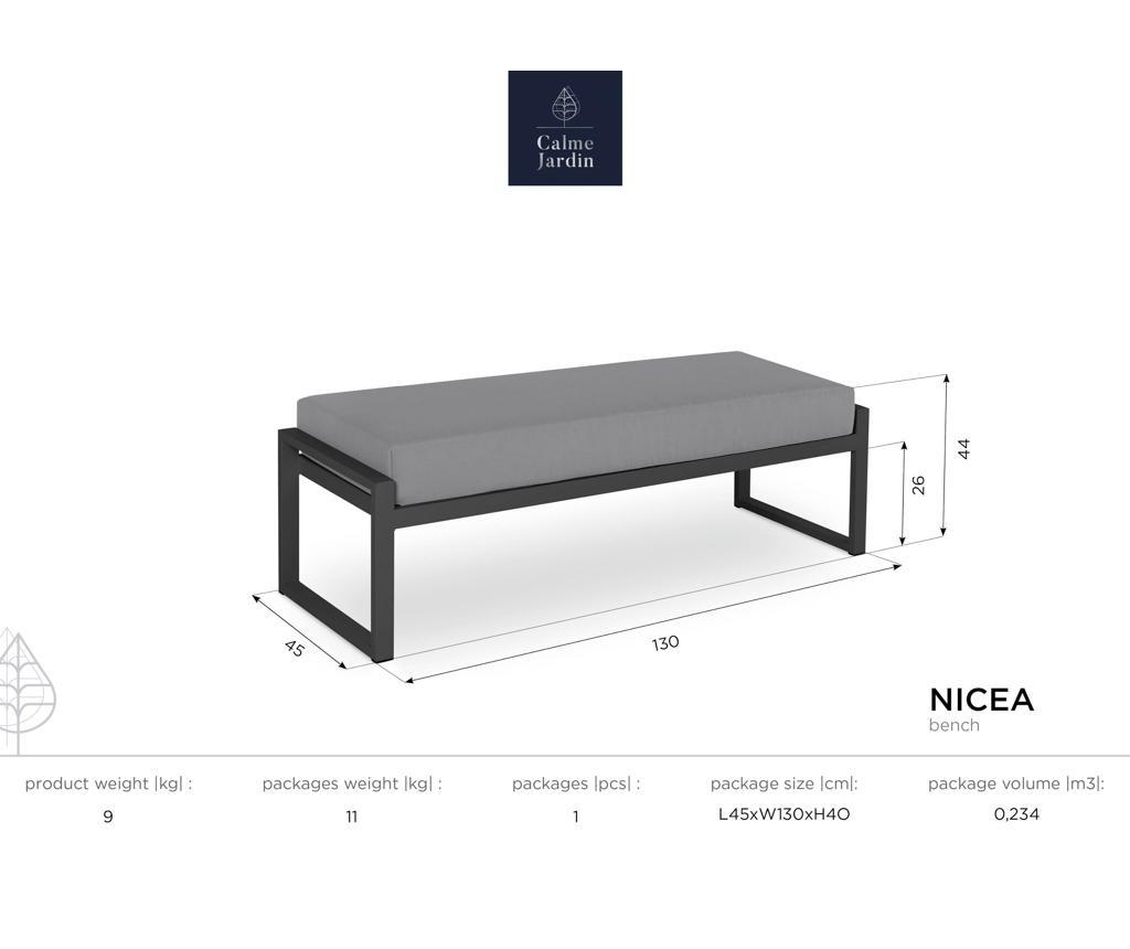 Nicea Beige White Kültéri pad
