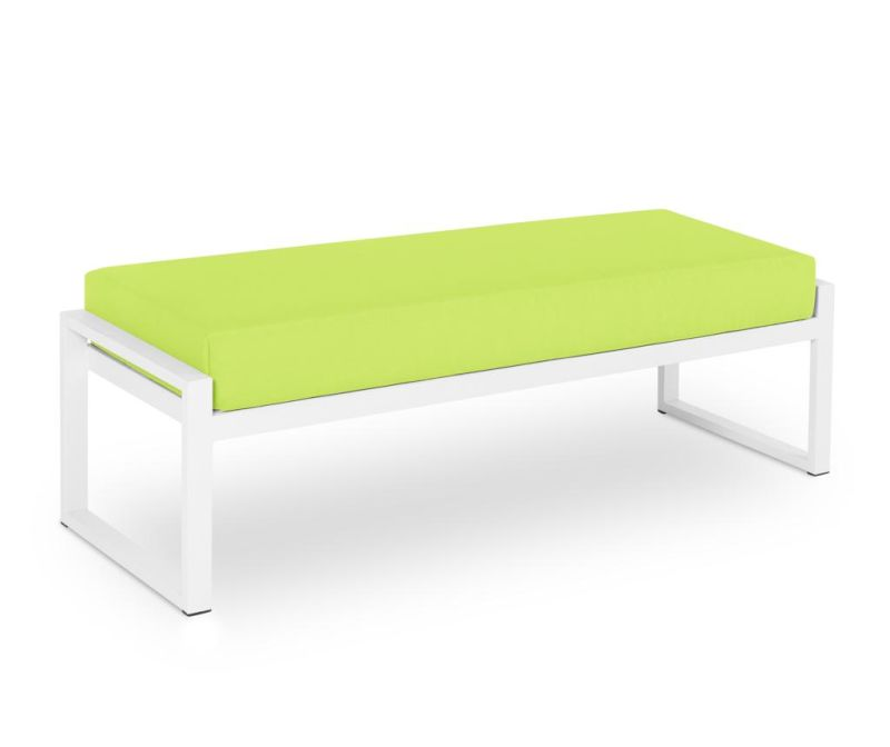 Klupa za vanjski prostor Nicea Light Green White