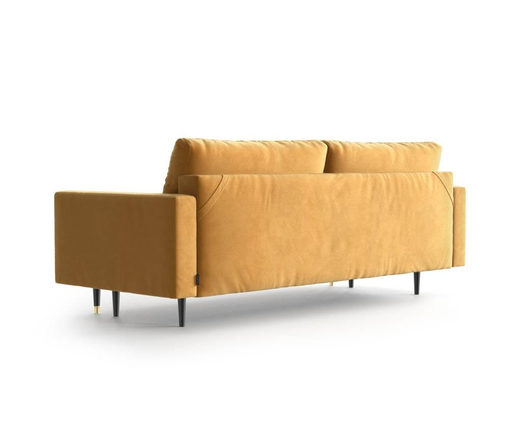 Rozkładana kanapa trzyosobowa Aldo Mustard