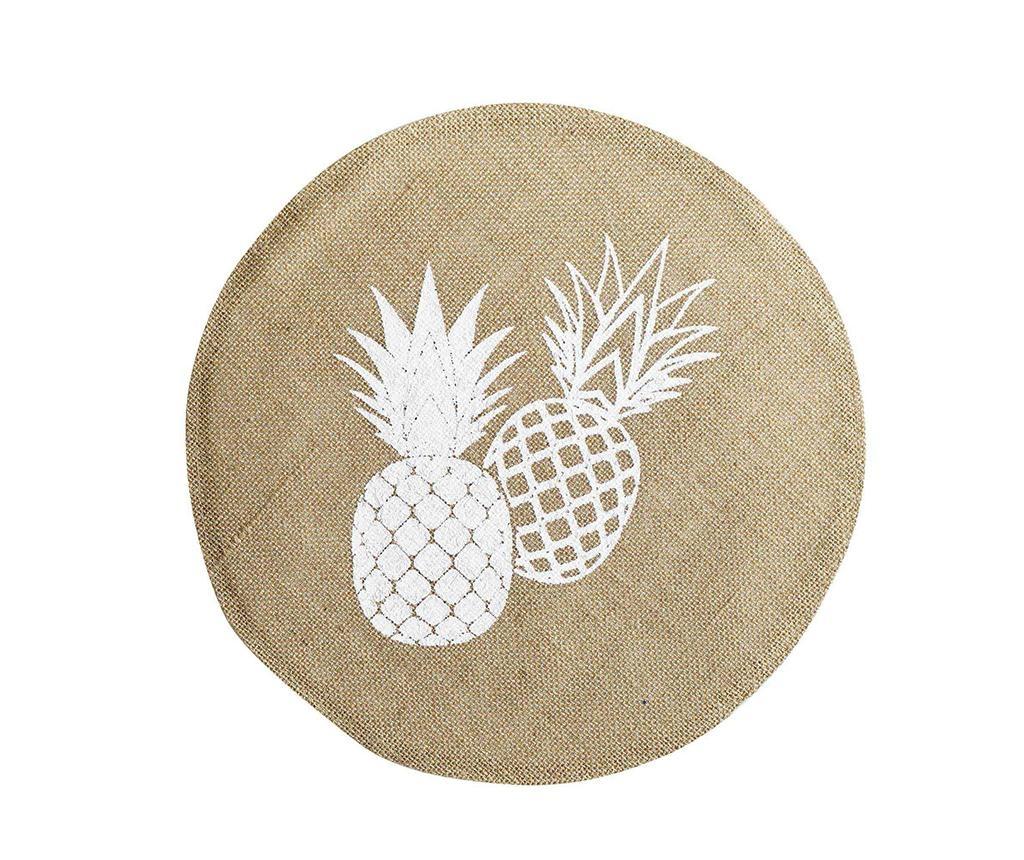 Ananas Round Spirit Tányéralátét 38 cm