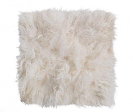 Κάλυμμα καθίσματος Fur Ivory 40x40 cm