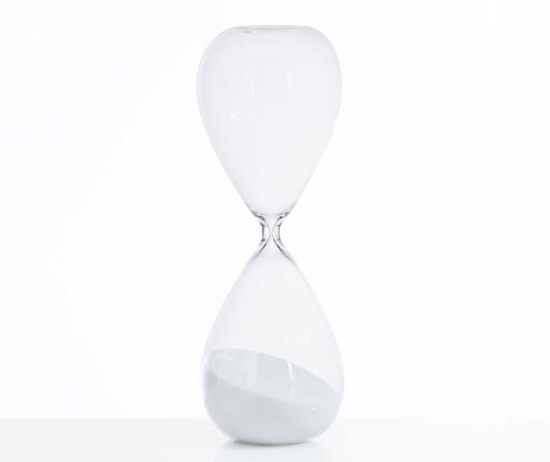 Пясъчен часовник Tomtime 30 White