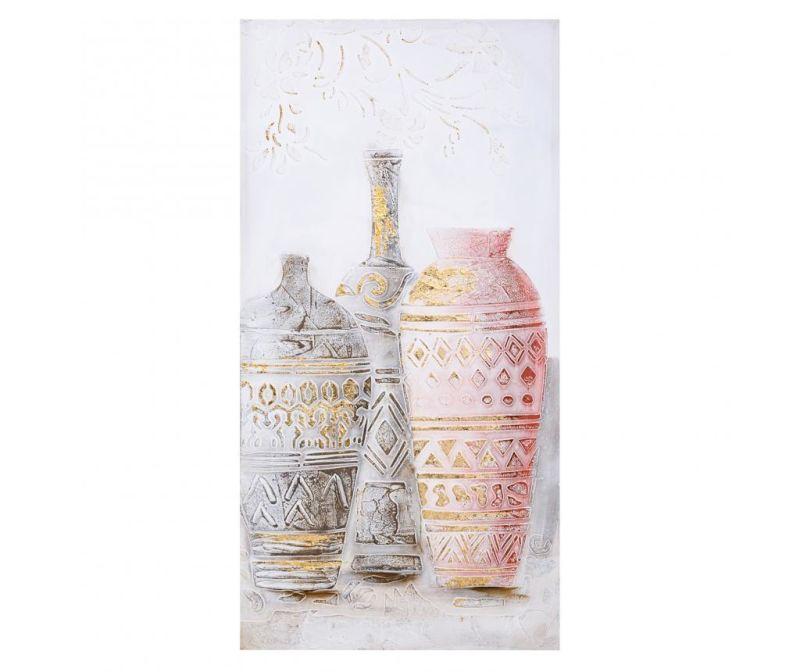 Slika Vases Pink 50x100 cm