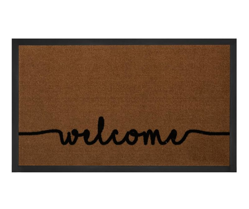 Predpražnik Printy Welcome Light-Brown Anthracite 45x75 cm