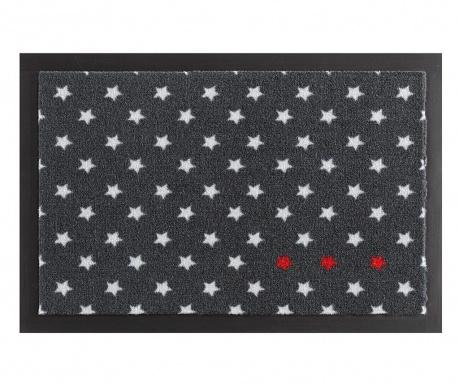 Χαλάκι εισόδου Printy Stars Anthracite Red White 40x60 cm