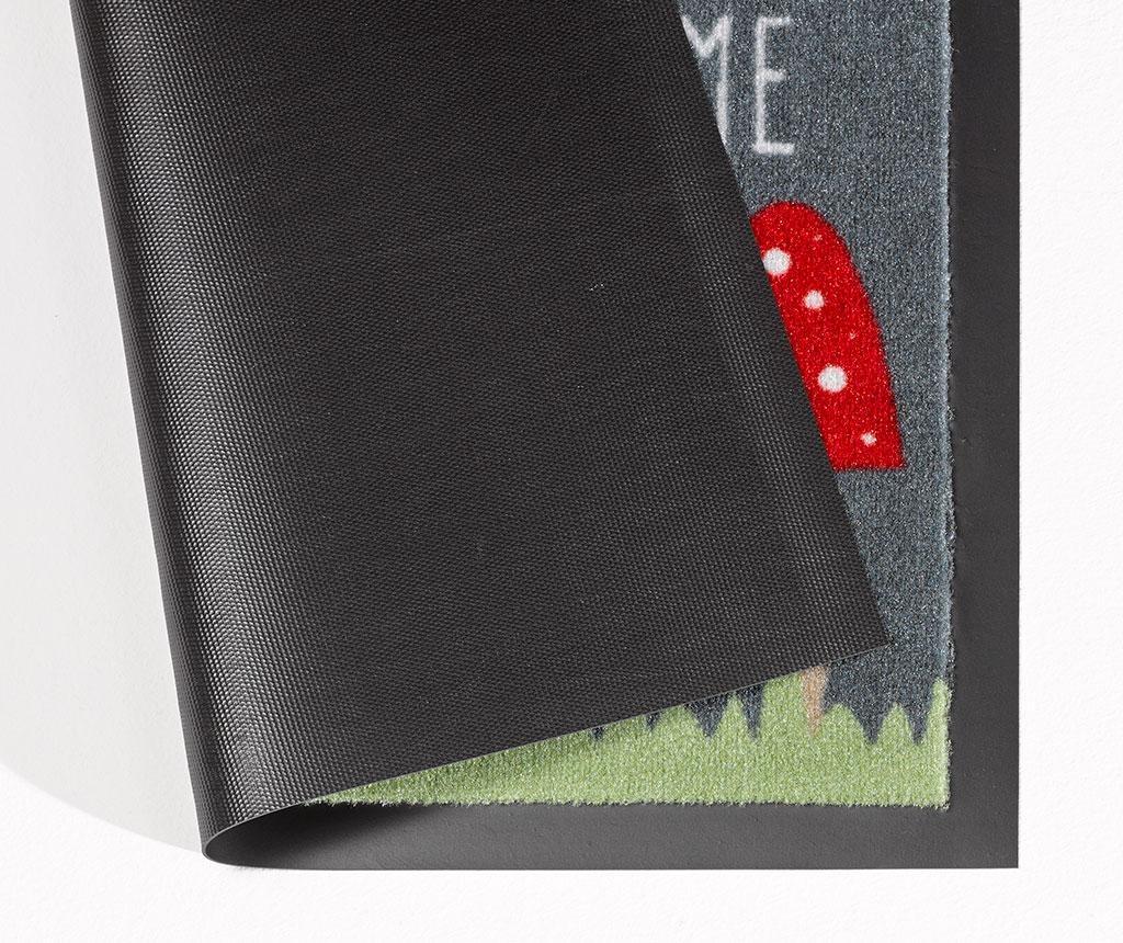 Predpražnik Printy Mushy Grey Red 40x60 cm