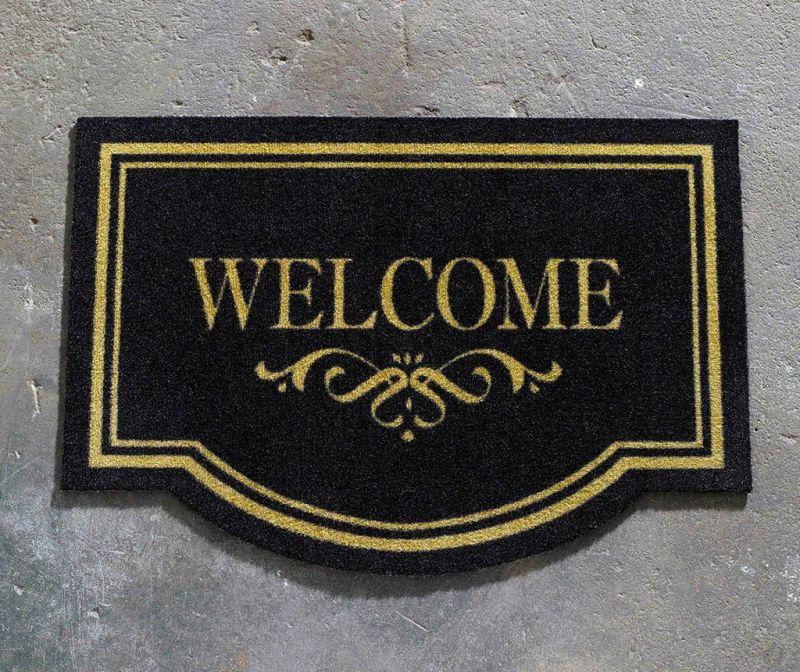 Predpražnik Printy Welcme Home Black Beige 45x65 cm