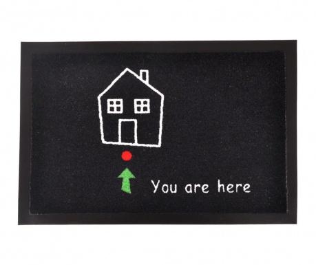 Χαλάκι εισόδου Printy You Black White Green Red 40x60 cm