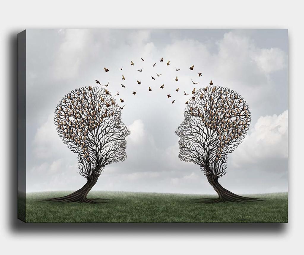 Slika Tree-Bird 70x100 cm