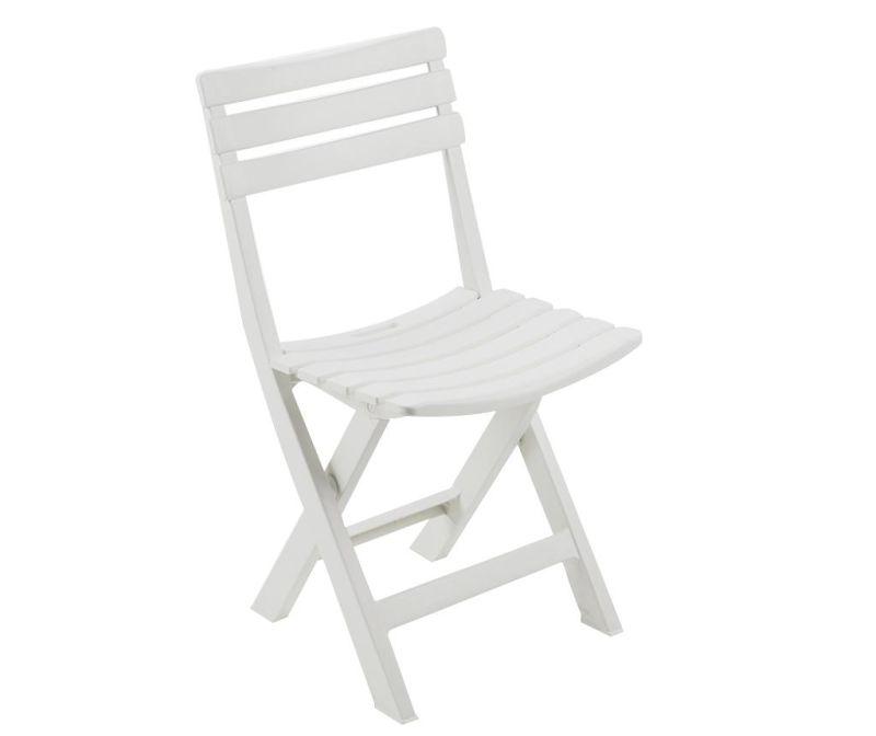 Krzesło zewnętrzne Birki White