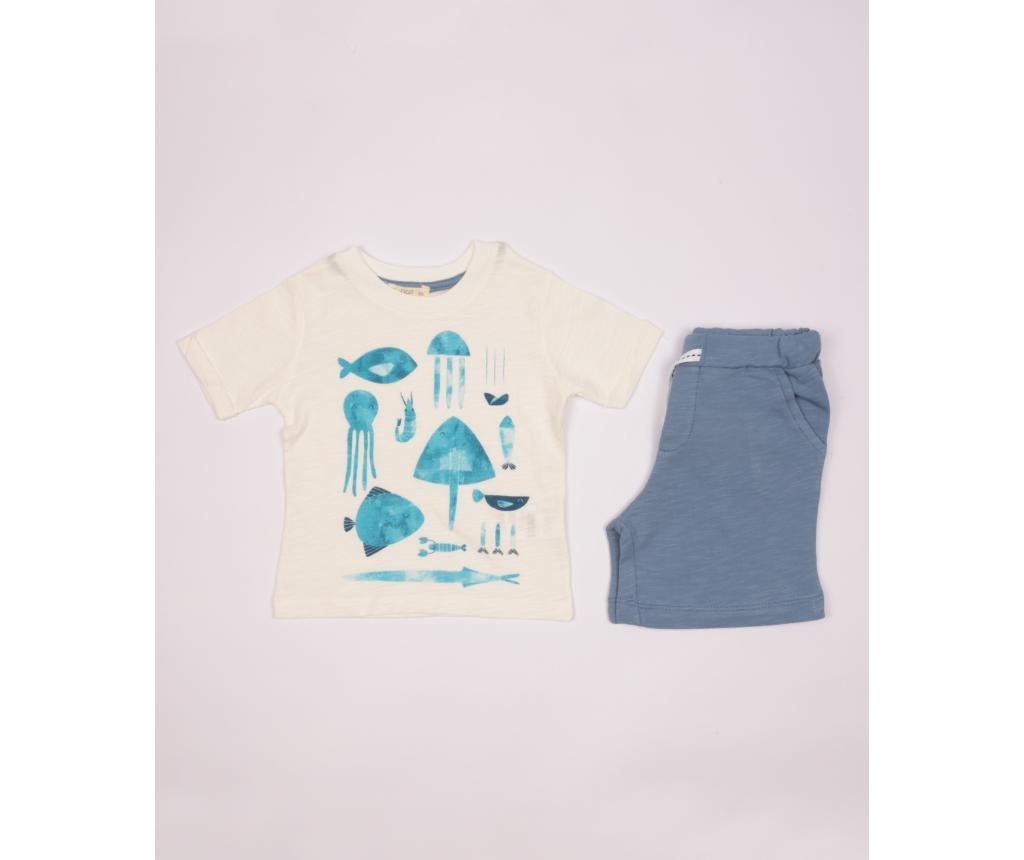Otroški komplet - majica s kratkimi rokavi in krtke hlače Aron 3-4 let