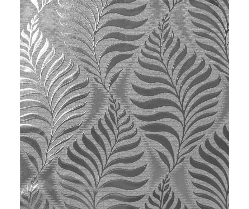 Fototapeta Foil Embossed Leaf Silver 53x1005 cm