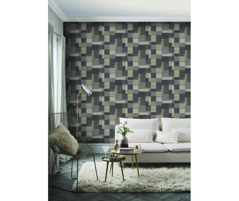 Fototapeta Cubico  Multi Charcoal 53x1005 cm
