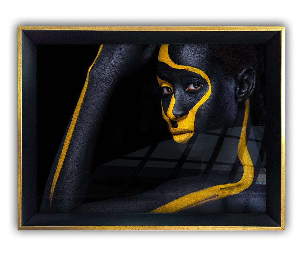 Obraz Yellow Black Woman 35x45 cm