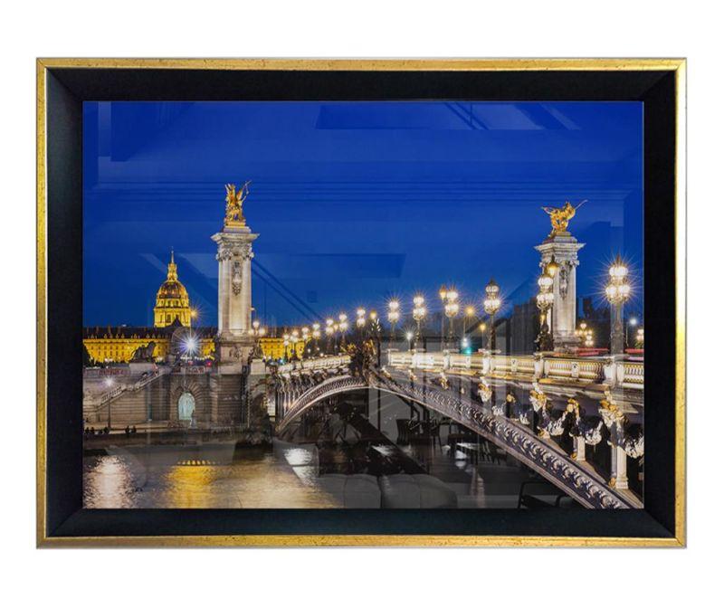 Tablou Night Bridge Light 55x75 cm
