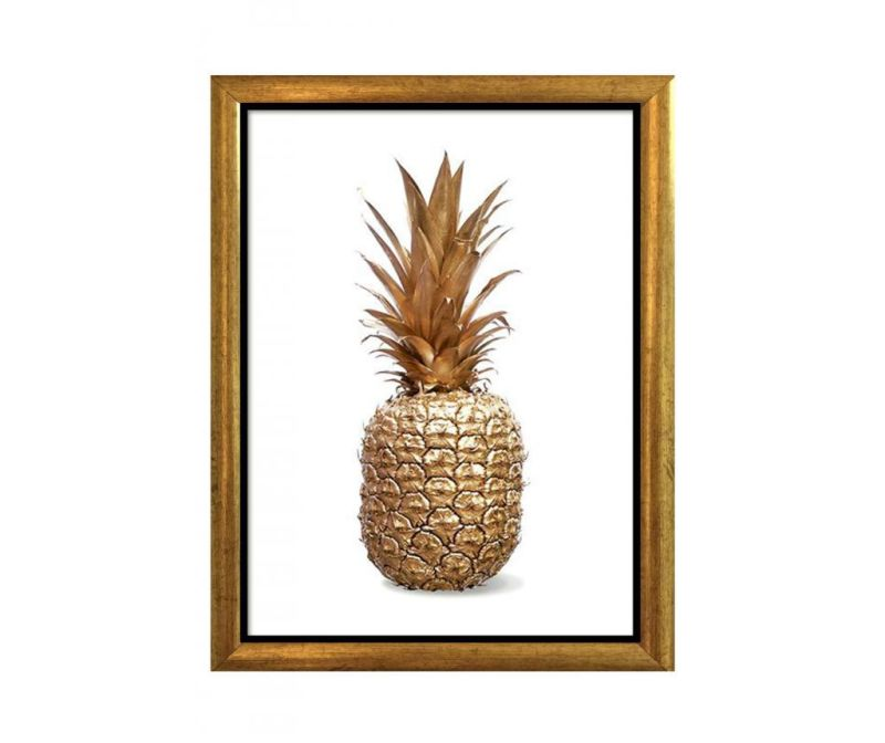Tablou Pineapple Golden 23x33 cm