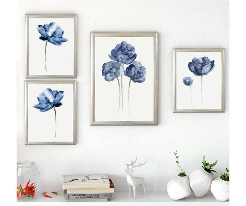 Set 4 tablouri Flowers
