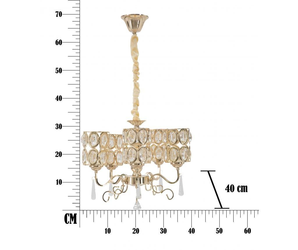 Stropna svetilka Glam Cristal