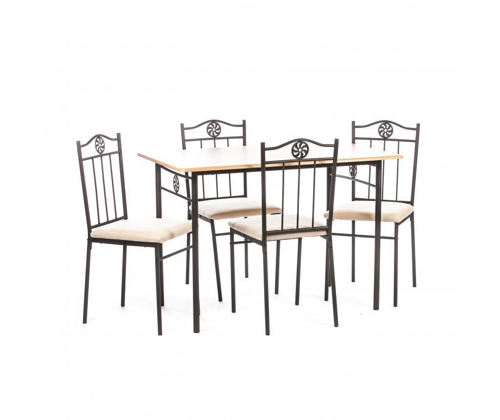Set vrtna miza in 4 stola Victory Cream