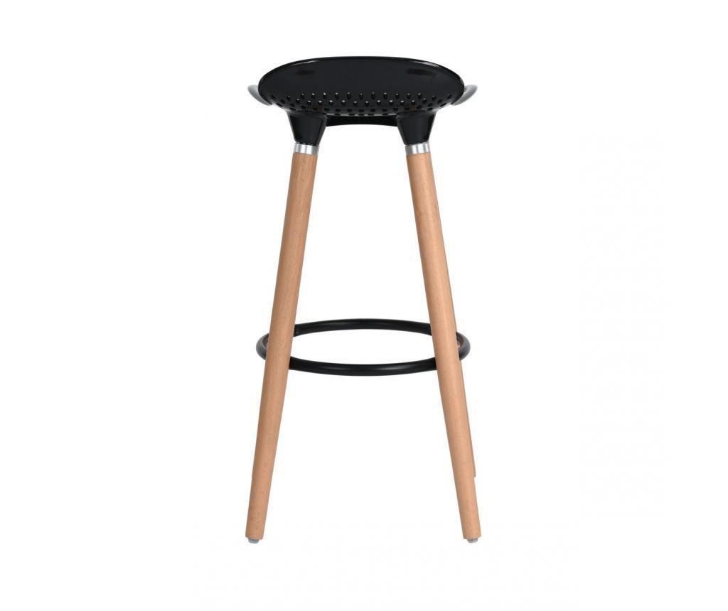 Set 2 barske stolice Bonito Black