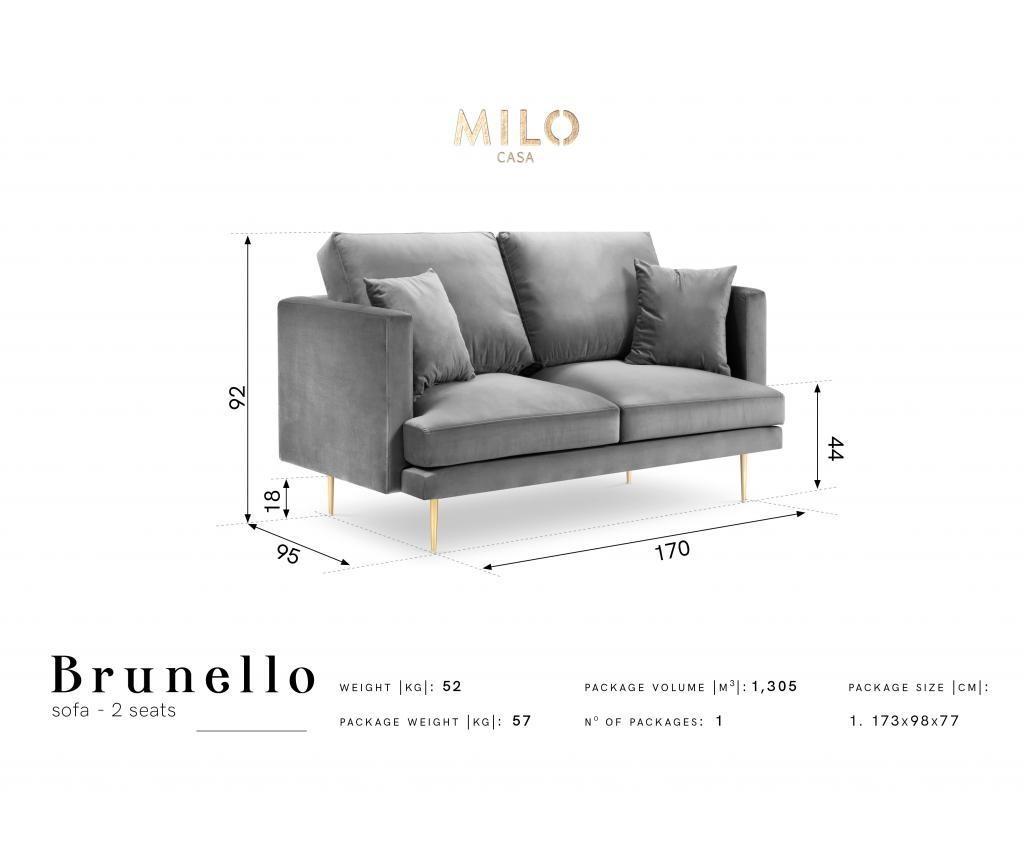 Sofa cu 2 locuri Brunello Beige