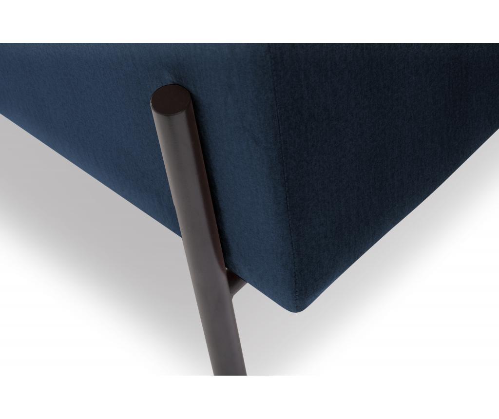 Sofa cu 2 locuri Carla Dark Blue