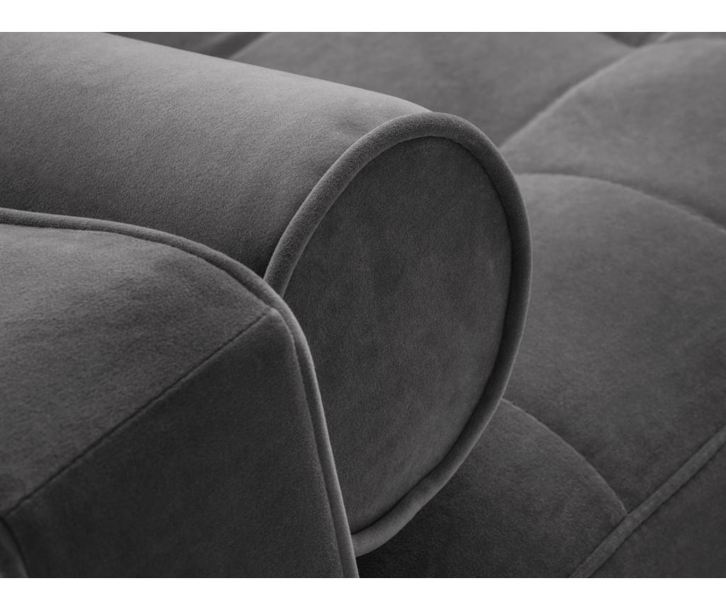 Canapea extensibila cu 3 locuri Santo Dark Grey
