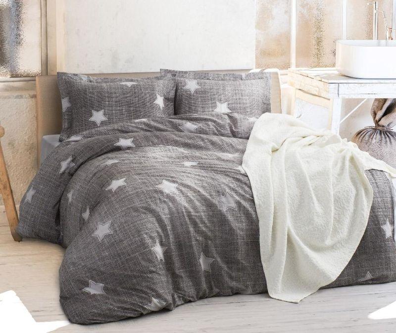 Комплект спално бельо King Ranforce T-star Grey
