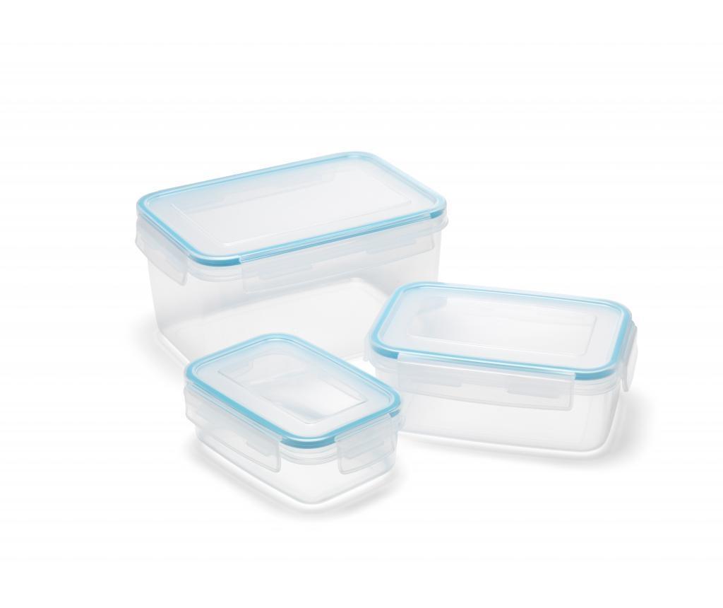 Clip & Close 3 darabos Élelmiszer tároló doboz