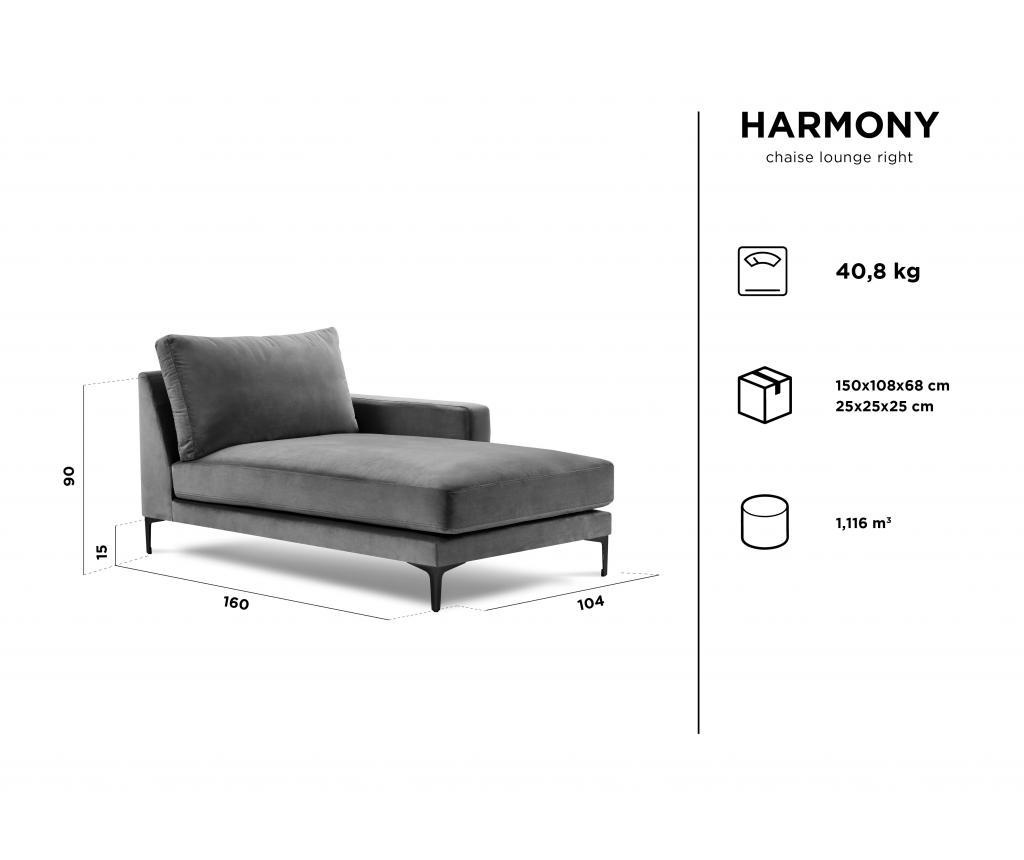 Sezlong living Harmony  Grey