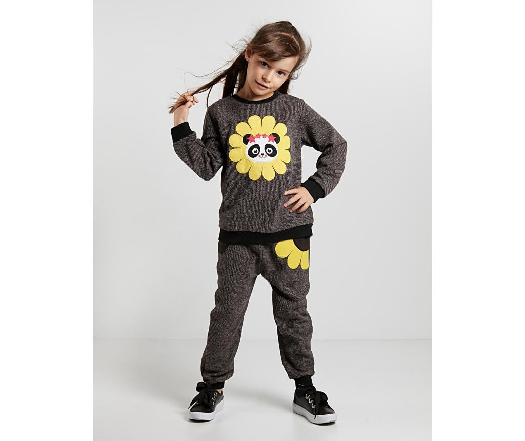 Set bluza si pantaloni Panda in Flower 6 ani