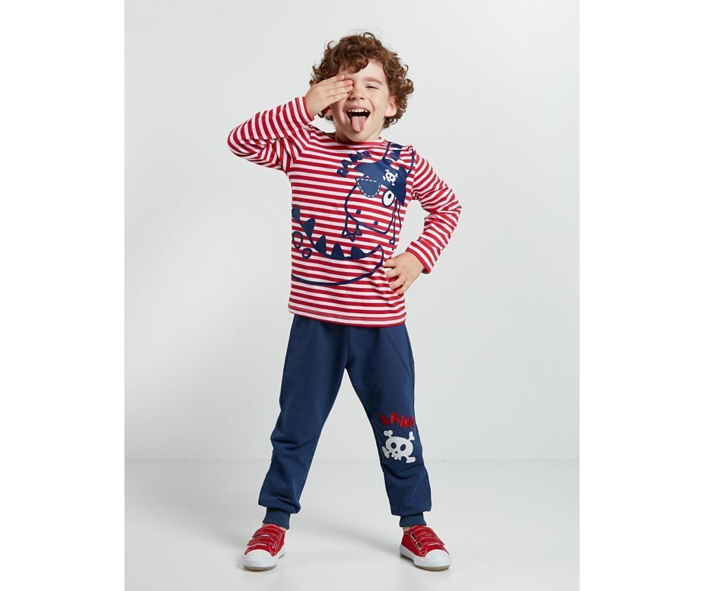 Set bluza si pantaloni pentru copii Pirate Striped 5 ani