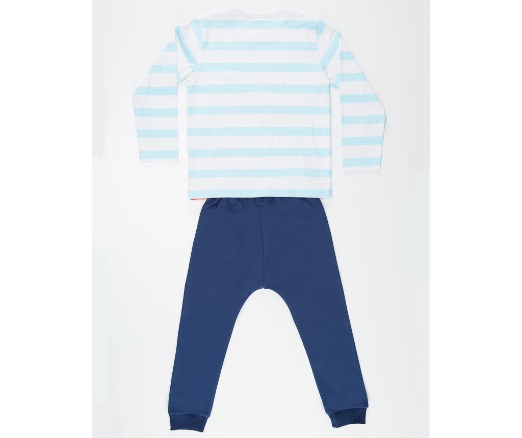 Set bluza si pantaloni pentru copii Orange Dino 5 ani