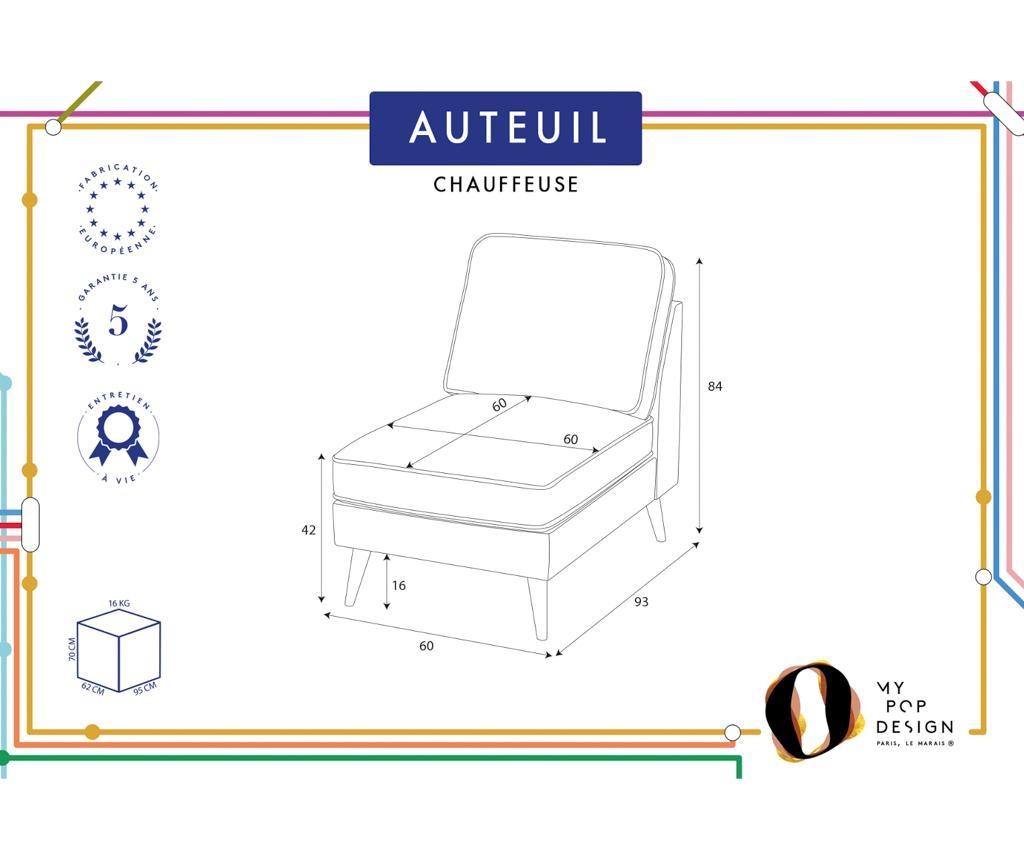 Ležaljka Auteuil Uni